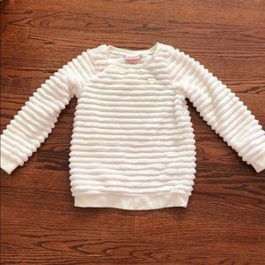 JUICY COUTURE Girls Plush Soft White Sweater